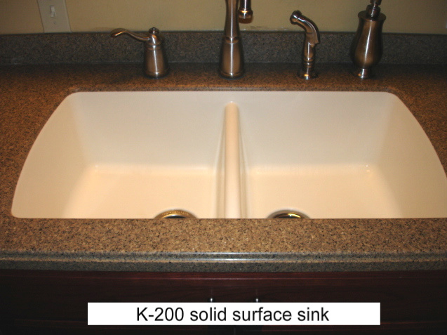 Corian Countertop Sink Options : steel undermount sinks are also popular in solid surface countertops ...